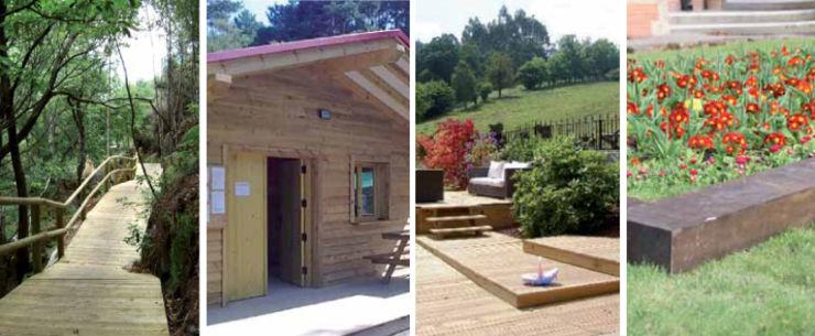 soluciones en madera natural para jardn de finsa
