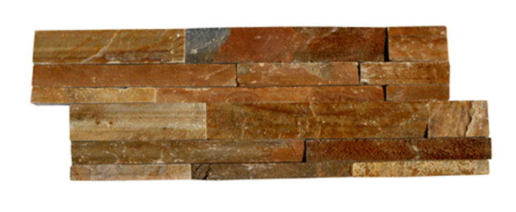 Panel de piedra natural de pizarra himachal multicolor - Panel piedra interior ...